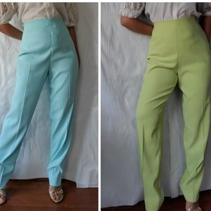 Set of 2 Elastic High Waisted Trouser